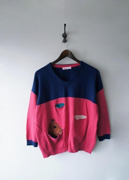 もぐらニットセーター