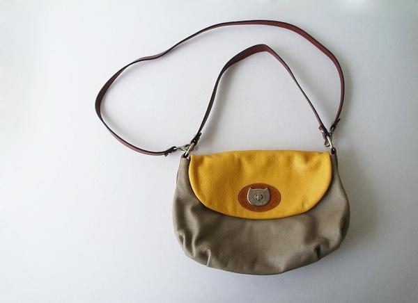 TSUMORI CHISATO配色レザーネコヒネリ2wayショルダーバッグ