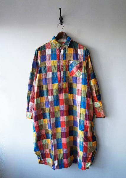 パレットチェックシャツワンピース