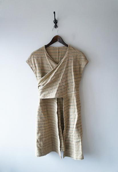 USAATO草木染め平織り変形ワンピース