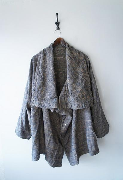 USAATO草木藍染めアレンジワイドジャケット
