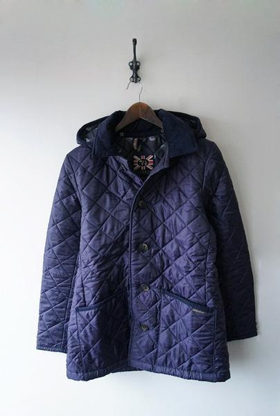 LAVENHAMフードキルティングジャケット