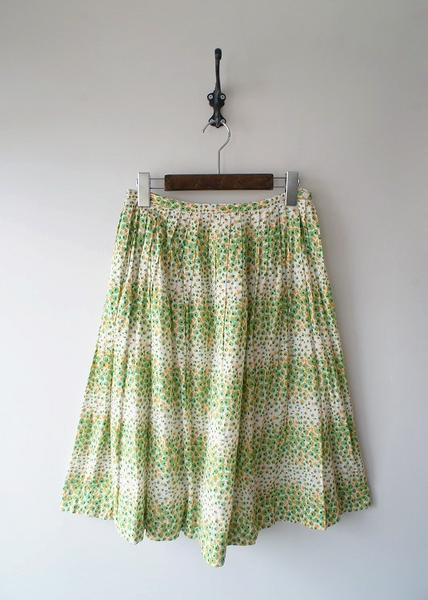 Sally Scott小花プリーツフレアスカート