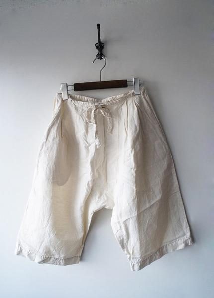 homspun綿麻ツイル巻きパンツ