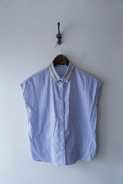 MACPHEEノースリビジューシャツ