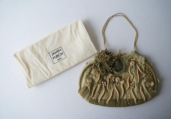JAMIN PUECHビーズ付刺繍ミニハンドバッグ
