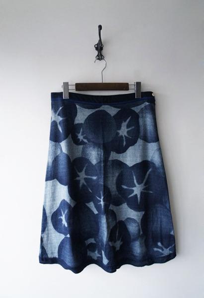インディゴあさがお台形スカート