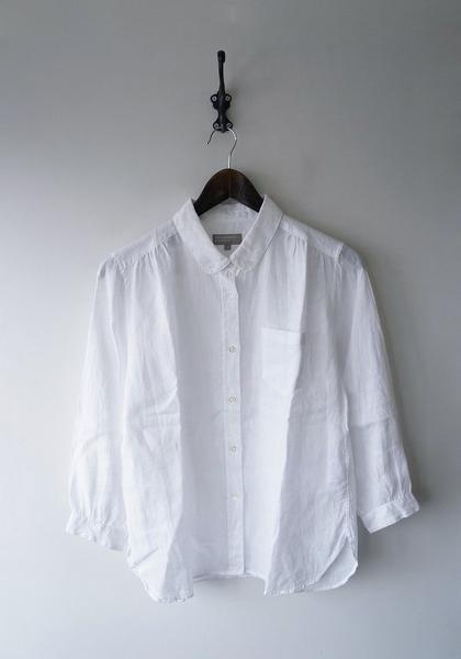 アイリッシュリネンボタンダウンシャツ
