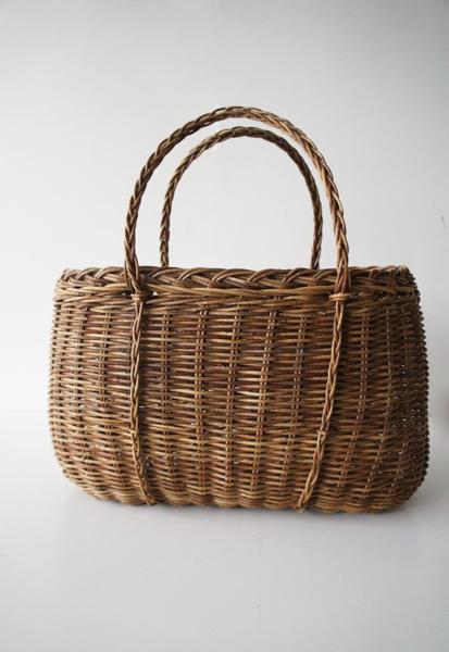 伝統工芸品手提げかごバッグ
