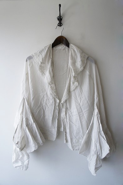 天然染め刺繍セーラーカラー羽織りブラウス