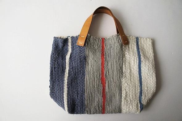 梅原和香裂き織りバッグ 多色織り
