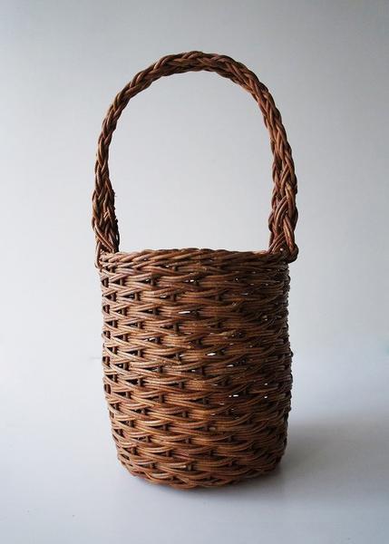 ホラ編み筒型バッグ