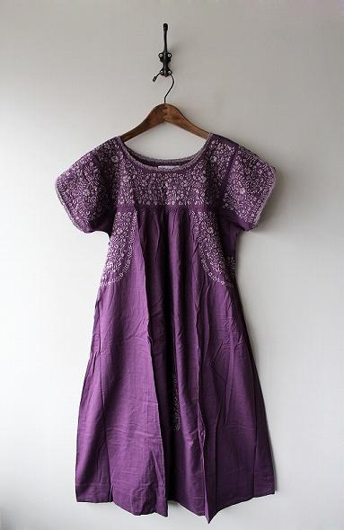 フォークロア刺繍ワンピース