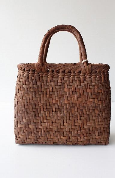 アジロ編み かごバッグ