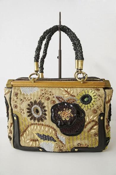 フラワーモチーフ スパンコールデザインバッグ