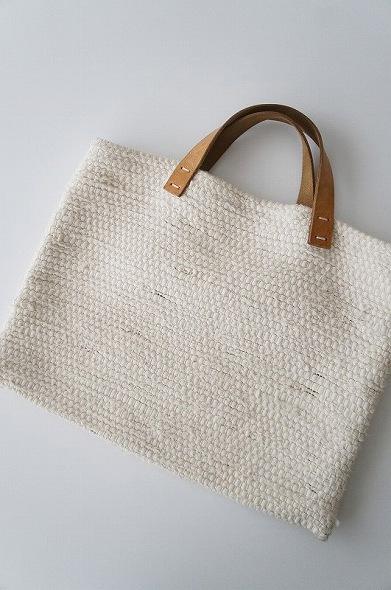 梅原和香裂き織りバッグ(小)