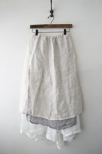 而今禾リネン3層スカート