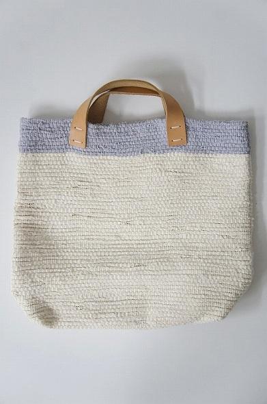 裂き織りトートバッグ
