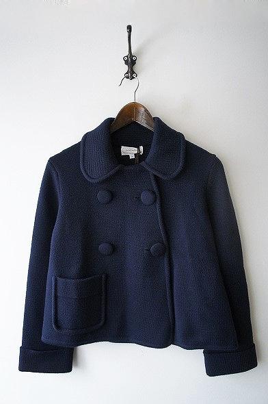 ダブルボタンニットジャケット