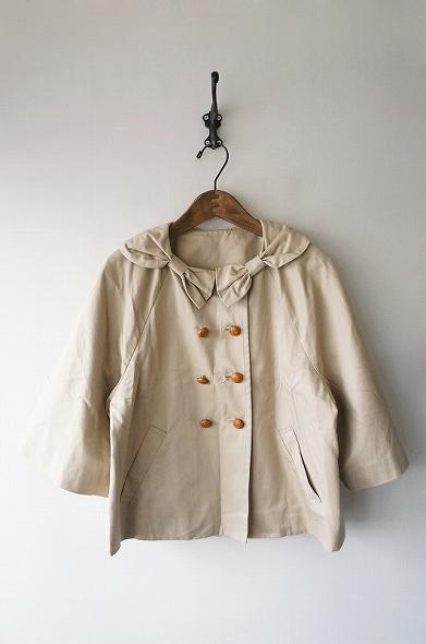 リボン襟ジャケット