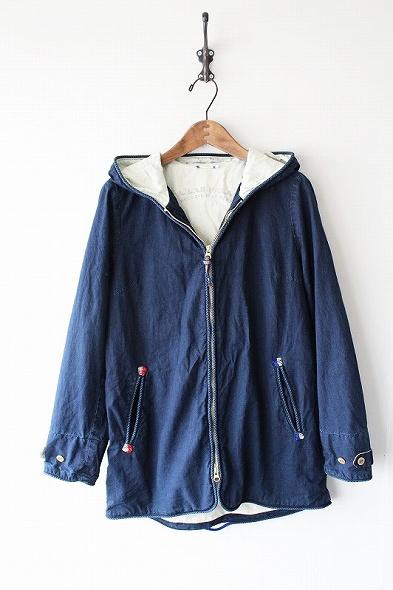 インディゴ染めフードジャケット
