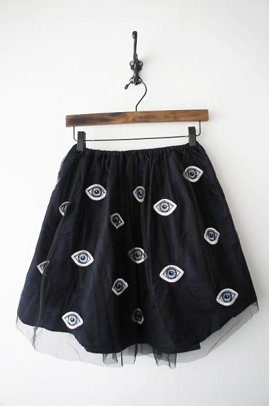 目玉シルクスカート