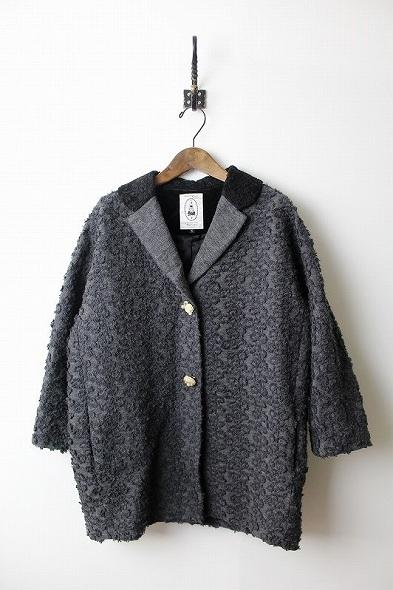 モヘアグログラン刺繍ジャケット