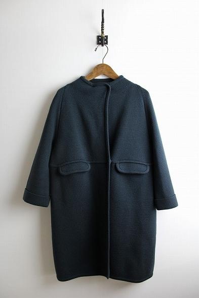 ウールニットコート