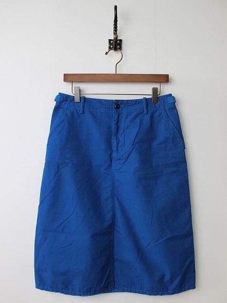 コットンポプリンアーミースカート