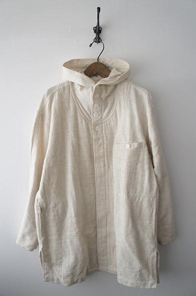 手織りフード付きワイドシャツ