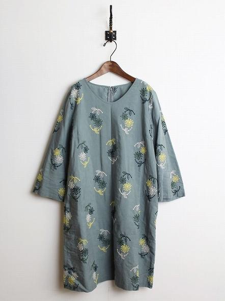 アンジェリカ刺繍 ワンピース