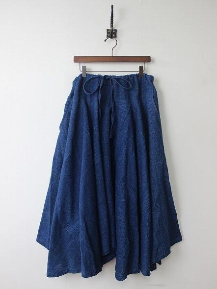 天然草木染めインディゴムササビスカート