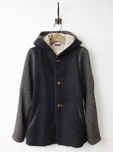 ウールフードジャケット