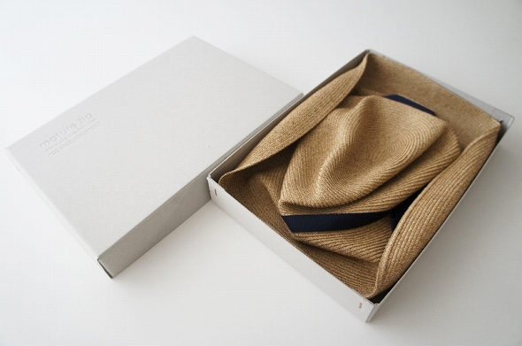 BOXED HAT 11cm brim grosgrain ribbon MBOX-10