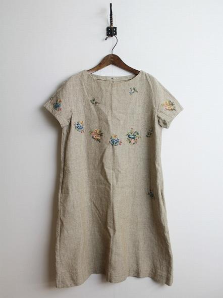 ギマツイード刺繍ワンピース