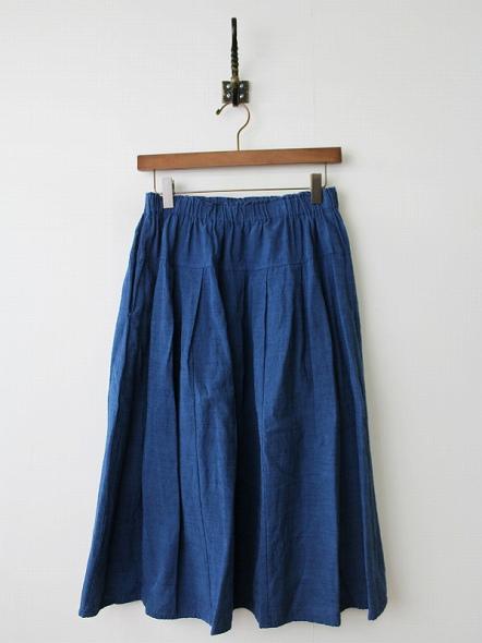 会津木綿 インディゴスカート