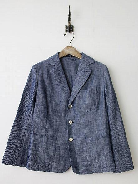 インディゴ染めジャケット