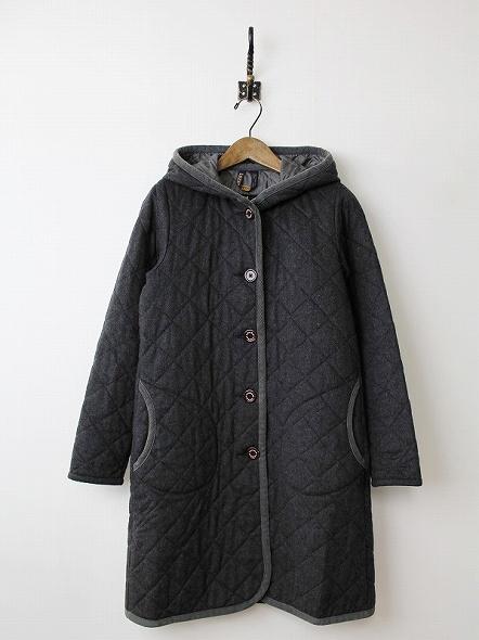 BRUNDON ウールキルティングコート