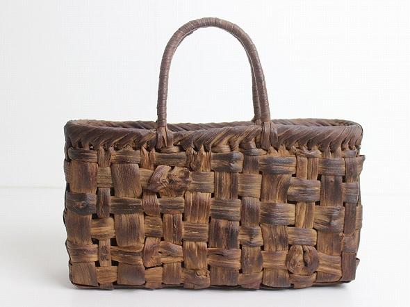 極太ひご 平編み かごバッグ