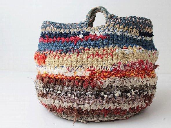 編みハンドバッグ