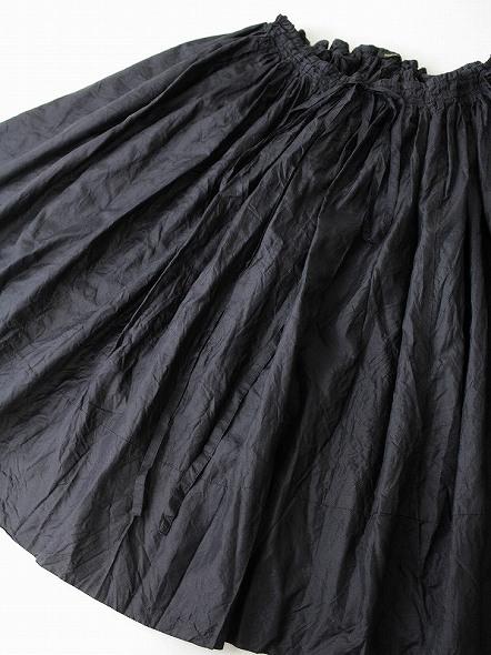 シルク ギャザー スカート