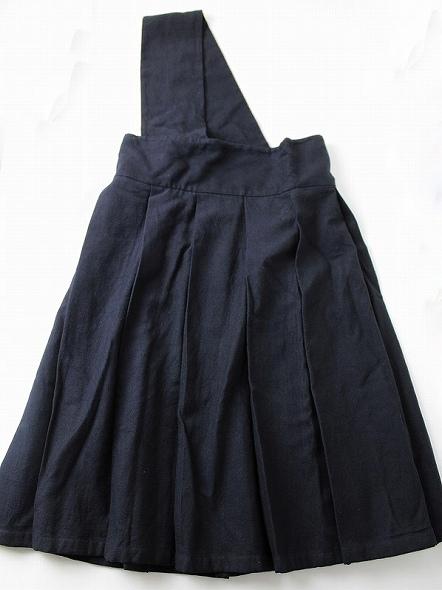 ワンショルダーワイドプリーツスカート