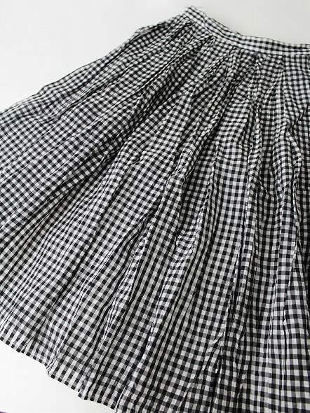 ギンガムチェックギャザースカート