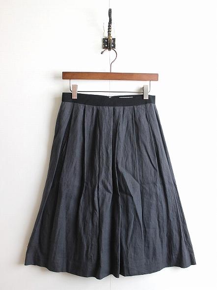 リネンプリーツスカート