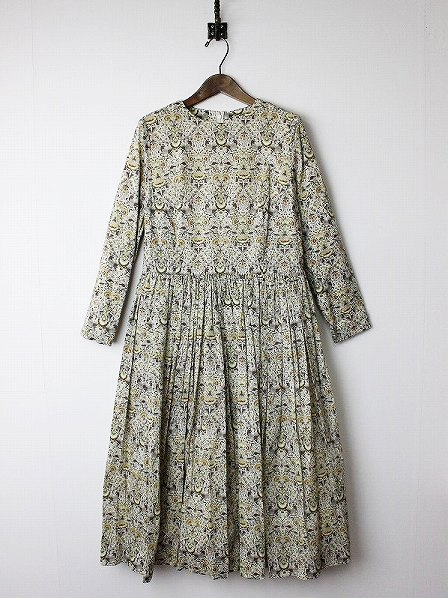 Gather One-piece flower liberty ギャザーワンピース
