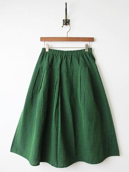 会津木綿タックフレアスカート