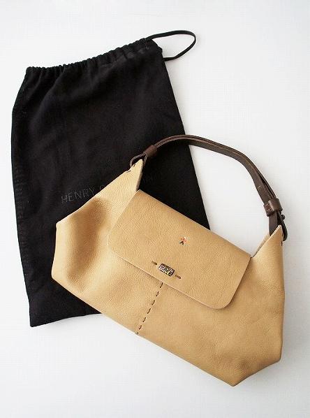 CARLOTTA オミノ刺繍 レザーハンドバッグ
