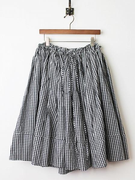 ギンガムチェックギャザーバルーンスカート