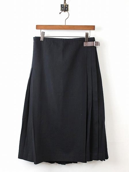 ウールプリーツキルトスカート