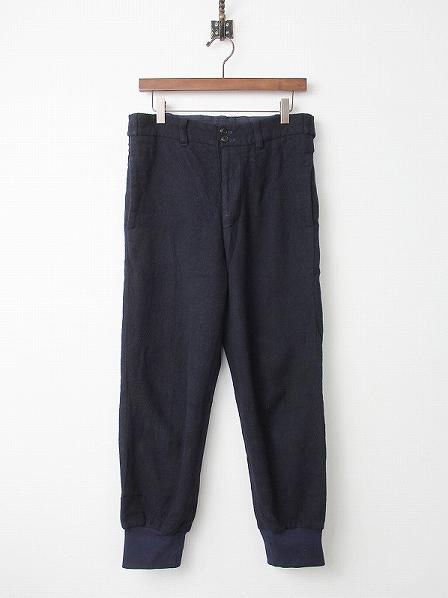圧縮ウール 裾リブ パンツ